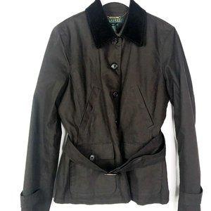 Lauren Ralph Lauren Womens Belted Jacket Button PP